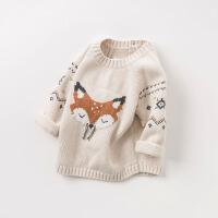 davebella戴维贝拉2018秋装新款男女童针织衫 宝宝套头毛衣DB8471