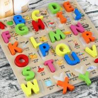 木质儿童早教数字母拼图1-2-3-6周岁玩具男女孩宝宝立体拼板