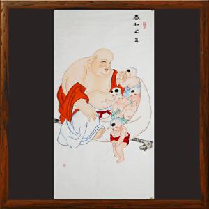 《泰和之气》李岩蓉 国家非遗扑灰年画【R281】