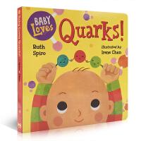 英文原版 Baby Loves Quarks! 宝宝爱夸克小粒子 低幼科普绘本 微观物理启蒙入门