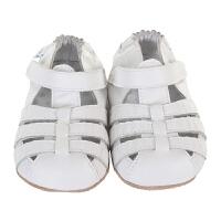 保税区发货/美国直邮 Robeez MINI SHOEZ Paris White 女童白色皮质凉鞋 海外购
