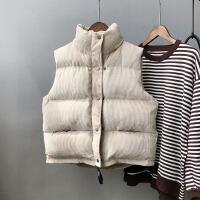 棉衣马甲女士外套新款秋冬短款韩版潮学生宽松加厚羽绒棉马夹坎肩外套