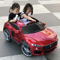 新款多功能儿童电动车早教摇摆幼儿宝宝玩具车可坐人四轮四驱儿童跑车男孩女孩电动汽车遥控自驾车 尊享版 防爆发泡轮+皮坐+