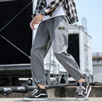 男士休闲长裤宽松秋季薄款9分工装韩版潮流哈伦百搭运动九分裤K935