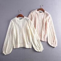 27秋季韩版新款时尚气质纯色圆领套头针织打底衫
