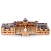 法国卢浮宫3d立体拼图 高难度拼装模型 手工礼物
