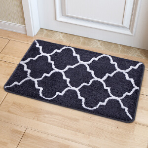 物有物语 防滑垫 家居条纹植绒地毯地垫家用厨房玄关门垫脚垫浴室门口吸水防滑垫