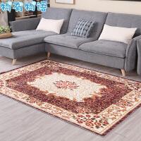 物有物语 客厅地毯 加厚茶几地毯门垫客厅卧室长方形床边毯现代简约飘窗毯榻榻米地毯 咖色