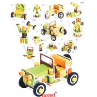 木玩世家螺丝螺母拆装组合男孩儿童拼装益智玩具吉普车组合3-6岁