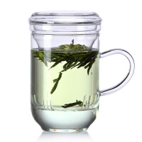 花茶杯 耐热玻璃水杯 高升马克杯 玻璃茶杯 三件杯耐热过滤保温杯花茶杯350ML