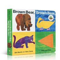 英文原版绘本Brown Bear, Brwon Bear, What Do You See?大本翻翻找找书纸板书 Er