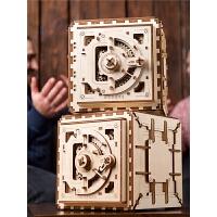 木质机械传动模型密码箱DIY拼装积木玩具