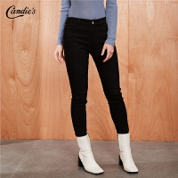 【满399减80】黑色牛仔裤女士新款韩版高高腰直筒裤百搭小脚裤长裤子