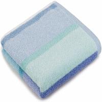 三利 纯棉色织提花竖条面巾单条装 34×73cm 柔软吸水洗脸毛巾