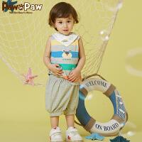 【3件3折 到手价:119】Pawinpaw卡通小熊童装夏款男女宝宝上下套装婴幼儿2件套可爱