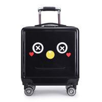 儿童拉杆箱20寸密码箱万向轮宝宝行李箱男女童旅行箱小孩子登机箱 黑色 黑色纸壳人20寸