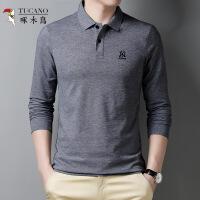 啄木鸟 男士春季长袖纯色POLO衫6031269