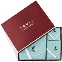 三利 纯棉AB版纱布系列 植物香味 方巾毛巾浴巾组合三件套礼盒装