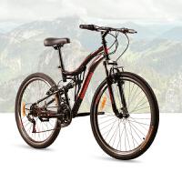 耐嘛自行车 26寸力学设计前后避震21速男女山地车