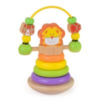 3-6-12个月0-1岁男女孩儿童宝宝不倒翁手摇铃婴儿玩具