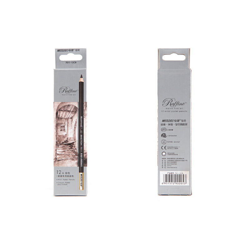 MARCO 马可 素描 铅笔套装素描铅笔 绘画铅笔 粉画笔 此价格为1盒的价格 高品质画材  马可画材专营