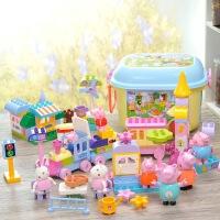 乐高积木女孩子系列 小猪玩具佩奇火车 拼装益智大颗粒男孩子拼图