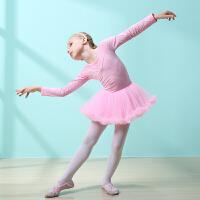 儿童舞蹈服女童练功服秋冬长袖小女孩跳舞纱裙幼儿连体芭蕾舞蹈裙