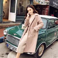 朴衣尚2018秋冬毛呢外套女韩版新款中长款加厚呢子小个子赫本风大衣