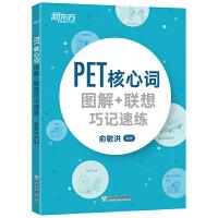 新东方 PET核心词图解+联想巧记速练 俞敏洪 PET考试核心词汇 PET单词书籍 历年真题精选PET考试核心词 配剑
