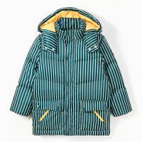 【2件3折价:239】巴拉巴拉旗下巴帝巴帝19年冬中大童时尚休闲儿童羽绒服男童潮酷条纹
