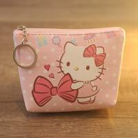 可爱 PU皮 凯蒂猫零钱包 美乐蒂拉链女孩零钱包 硬币包带钥匙环
