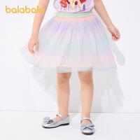 【3件5折价:70】巴拉巴拉女童短裙儿童纱裙夏小童宝宝半身裙