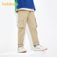 【8.4券后预估价:97.4】巴拉巴拉童装男大童中大童裤子儿童工装小直筒裤2021新款夏装长裤