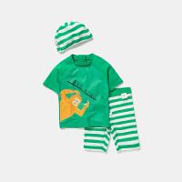 【2件4折】迷你巴拉巴拉儿童泳装男童撞色泳衣套装夏季新款分体泳衣泳裤