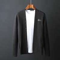 秋季男士针织衫外套圆领开衫修身韩版潮流毛衣男青年外穿线衣