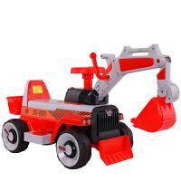 儿童挖土机可坐可骑大号钩机男孩不带遥控工程车电动挖掘机玩具车