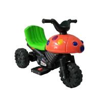 儿童电动摩托车甲虫小孩宝宝车电动充电三轮车可坐玩具童车电瓶车 6V8A电瓶 +音乐灯光