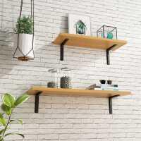 实木一字隔板墙上置物架墙面客厅电视墙装饰书架背景挂墙壁挂搁板