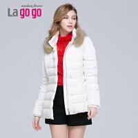 【每满200减100】冬季新款时尚白色羽绒服女修身显瘦中长款白鸭绒加厚保暖