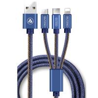 三合一充电器数据线通用二合一拖安卓手机多用功能多头一拖三