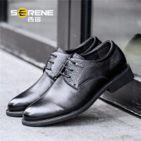 西瑞男士休闲鞋新款英伦商务皮鞋系带单鞋透气皮鞋男鞋8166