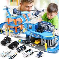 儿童玩具男孩7-9岁智力赛车轨道车汽车停车场套装2-3-6周岁男孩子