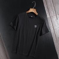 捌零折扣青年夏装素色短袖T恤时尚圆领素版半袖体恤衫简约打底衫