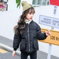 女童棉衣2018新款韩版短款中大童儿童羽绒宽松加厚面包服反季