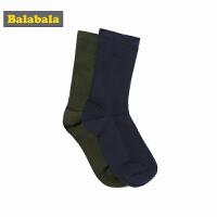 巴拉巴拉童装男童棉袜儿童袜子秋冬2017新款中大童高筒袜两双装