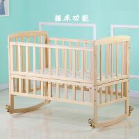 可升降带滚轮推行变书桌 婴儿床实木婴儿童初生宝宝摇篮床