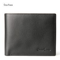 Clous Krause CK钱包新款男士钱包商务休闲时尚短款钱包两折多卡位横款钱夹