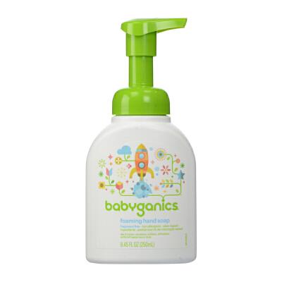 保税区发货 Baby Ganics/宝贝甘尼克 泡沫洗手液 无香 8.45 fl.oz/250ml 海外购