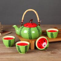 汉馨堂 茶具套装 陶瓷茶具套装礼品创意 陶瓷杯 花茶壶 红茶 花草茶 水果茶 茶盘