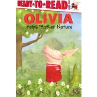 英文原版OLIVIA Helps Mother Nature (Olivia TV Tie-in)小猪奥莉薇做环保【精装